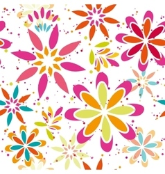 Summer floral seamless patter vector