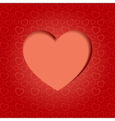 Valentine card with heart vector image