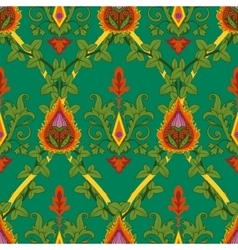 Vintage variegated seamless pattern ivy and fire vector