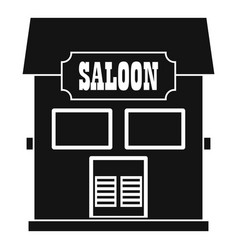 western saloon icon simple style vector image vector image