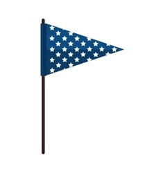 Flag blue stars america vector