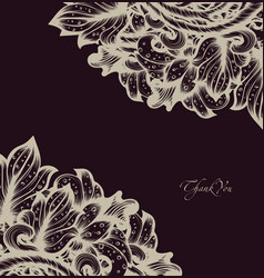 Hand drawn floral design vector