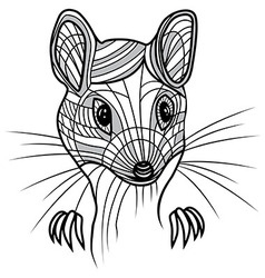 Rat or mouse head animal for t vector image