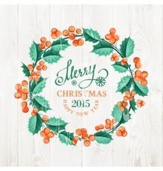 Merry christmas wreath vector