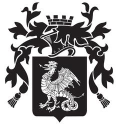 Heraldic silhouette no36 vector