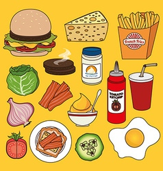 Hamburger digital design vector