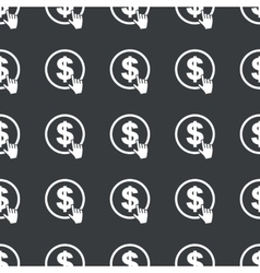 Straight black dollar click pattern vector