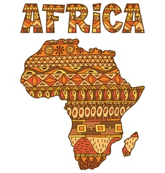 Africa map pattern vector