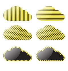 Clouds with a yellow black stripes vector