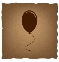 Balloon sign vintage effect vector