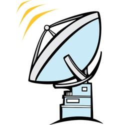 Radio Dish Telescope vector image