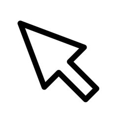 arrow cursor icon Web design graphic vector image