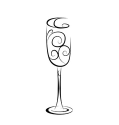 Abstract champagne glass vector image vector image