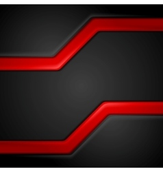 Abstract contrast black red tech background vector
