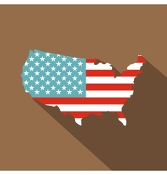 American map icon flat style vector