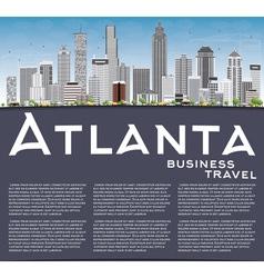 Atlanta skyline with gray buildings blue sky vector