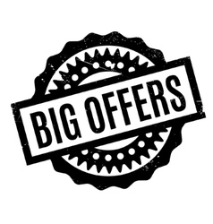 Big offers rubber stamp vector