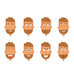 businessman generation of various expressions vector image