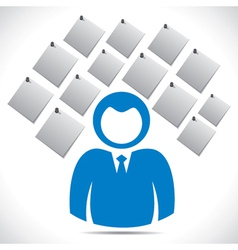 businessmen with paper note vector image vector image