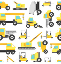 cartoon construction machinery seamless pattern vector image vector image