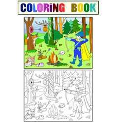 children color white and black arrow in the vector image