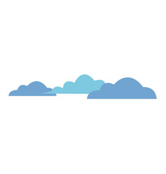 cloud sky weather heaven nature icon vector image vector image