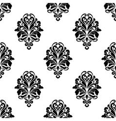Damask pattern background vector