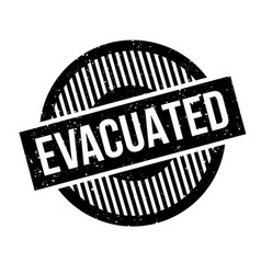 Evacuated rubber stamp vector