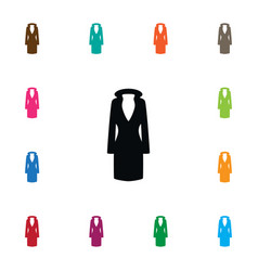isolated outerwear icon jacket element can vector image