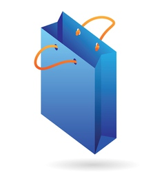 Isometric icon of paper bag vector image