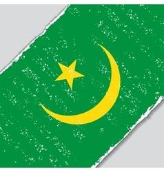 Mauritanian grunge flag vector