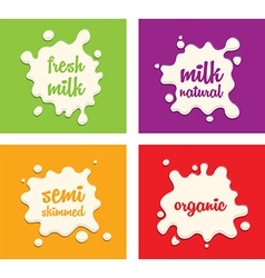 Milk splodges group vector