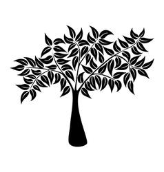 Natural tree symbol silhouette vector