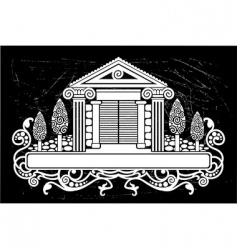 Old building vector image