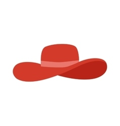 Panama red hat vector