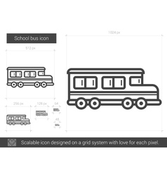 School bus line icon vector image