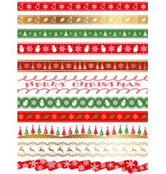 seamless borders for the christmas vector image
