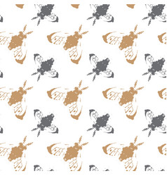 seamless pattern fly colorful ornament design vector image vector image