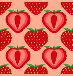 seamless pattern of strawberry fruit vector image