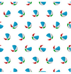 seamless pattern summer beach ball background vector image vector image