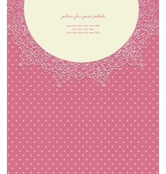 Vintage pink wedding card vector image vector image