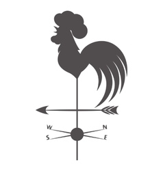 Weather vane gray rooster on a white background vector