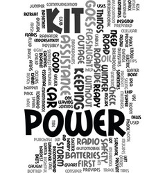 You ready when the power goes out text word cloud vector