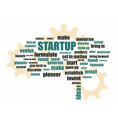 Startup related words vector