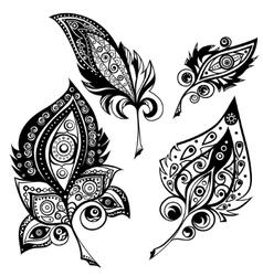 Ethnic ornamental plumes vector