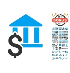 Pay library icon with 2017 year bonus pictograms vector