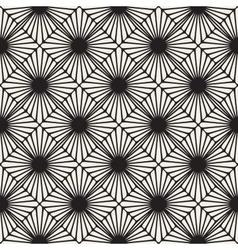 Seamless Black and White Rounded Sunburst vector image