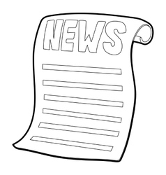 Newspaper icon isometric 3d style vector