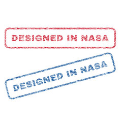 Designed in nasa textile stamps vector
