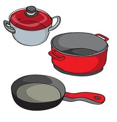 Pans isolated vector